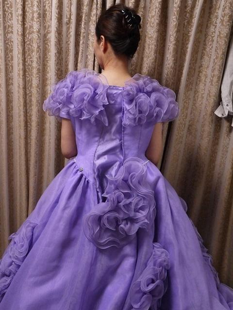 ウエディングドレス パーティドレス 作り直しの15号_画像7