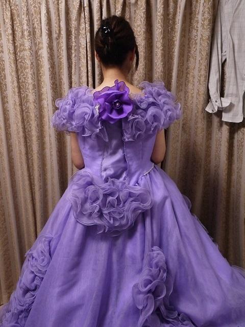 ウエディングドレス パーティドレス 作り直しの15号_画像8