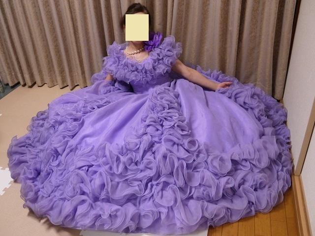 ウエディングドレス パーティドレス 作り直しの15号_画像10