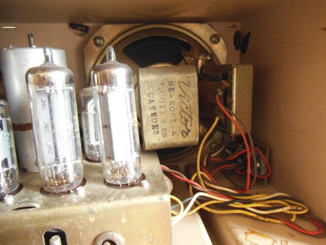 ビクター真空管ラジオ MW SW 2BAND ジャンク_画像5
