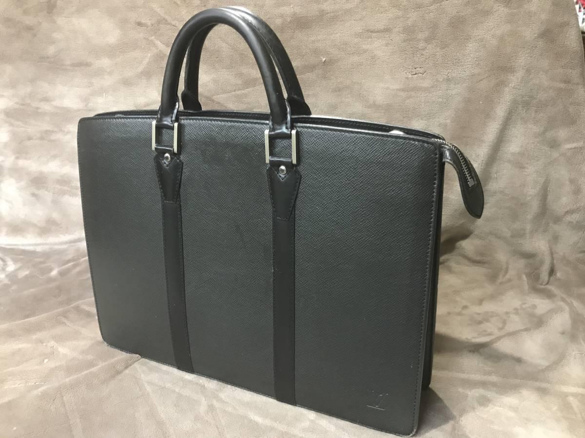 [美品]ルイヴィトン タイがロザン 書類ビジネスバッグ ブラック