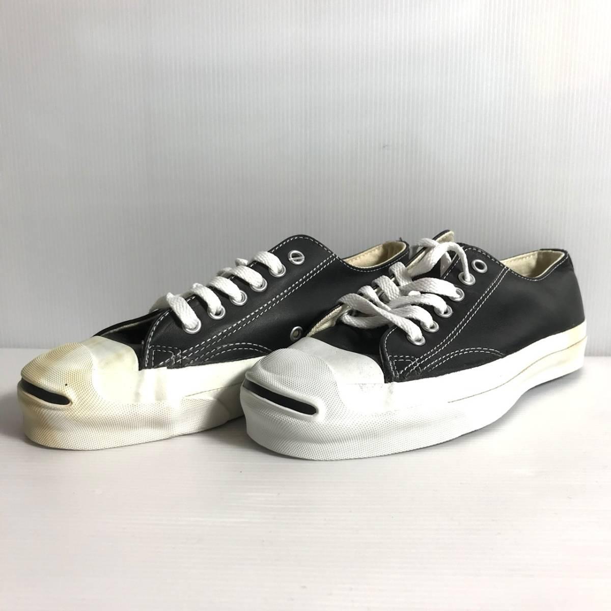 e8113c8588fb dead stock  90 S USA made  CONVERSE JACK PURCELL Converse leather Jack  purcell black 23cm