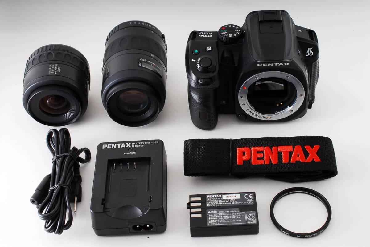 ★極上品★ PENTAX ペンタックス K-30 ダブルレンズセット 付属品満載 ★常時 防湿庫保管 状態が良いものをお探し方に是非オススメです! B9