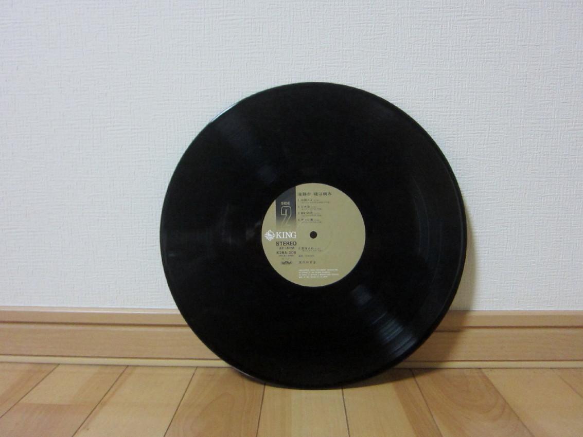 美品 K28A-206 帯付き LP盤 レコード 友川かずき「海静か、魂は病み」/キングレコード_画像6