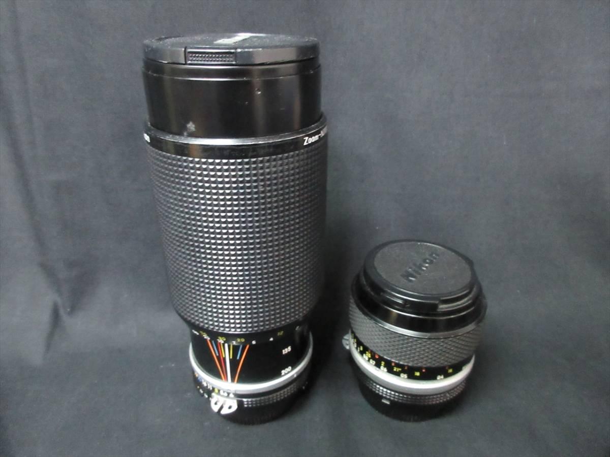 1円~カメラ NIKON F レンズ 1:3.5 55mm 1:4 80-200mm _画像8