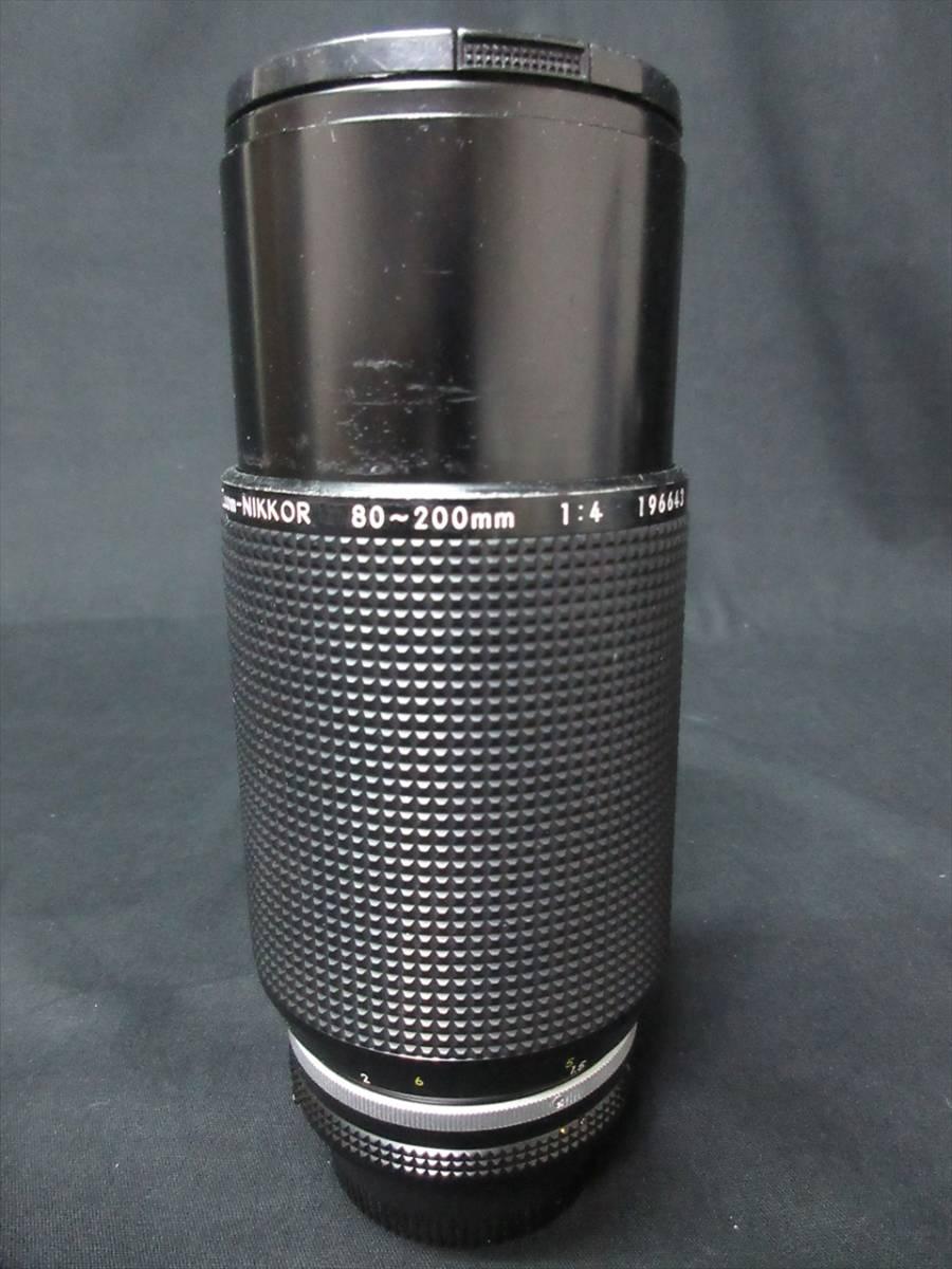 1円~カメラ NIKON F レンズ 1:3.5 55mm 1:4 80-200mm _画像10