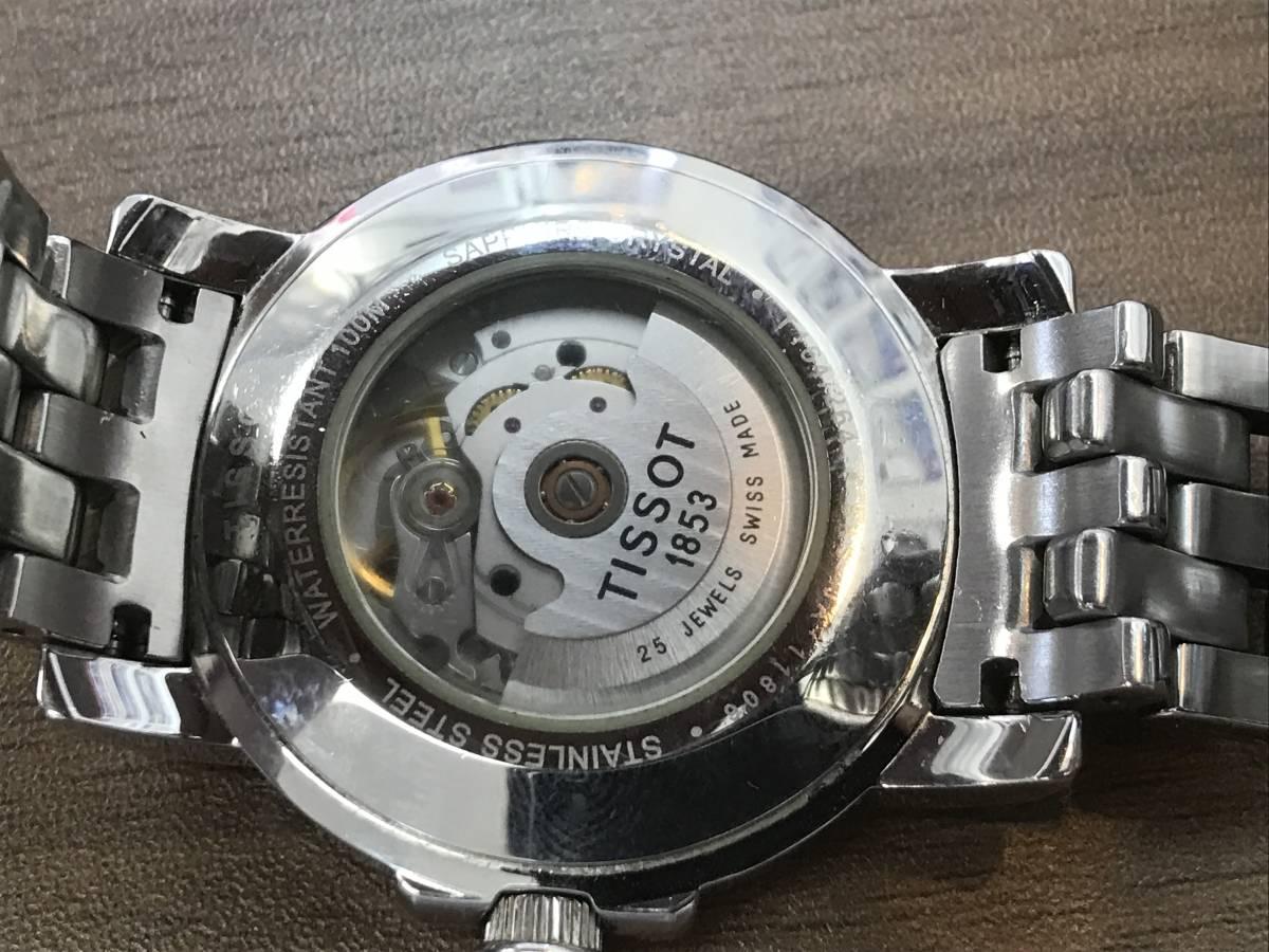 ◆◇【9352】TISSO/ティソ メンズ腕時計 自動巻き 100M/330Ft T164-264 Tロード 150周年 稼働品 コマ有 保証書付き ◇◆_画像3