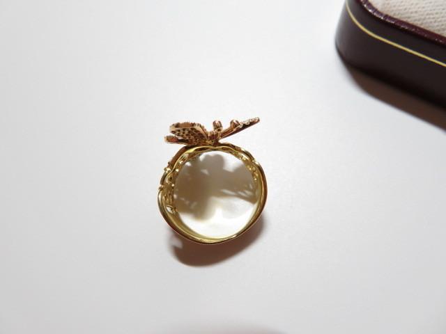 K18YG 750 ダイヤモンド 0.94ct 蝶モチーフ リング_画像3