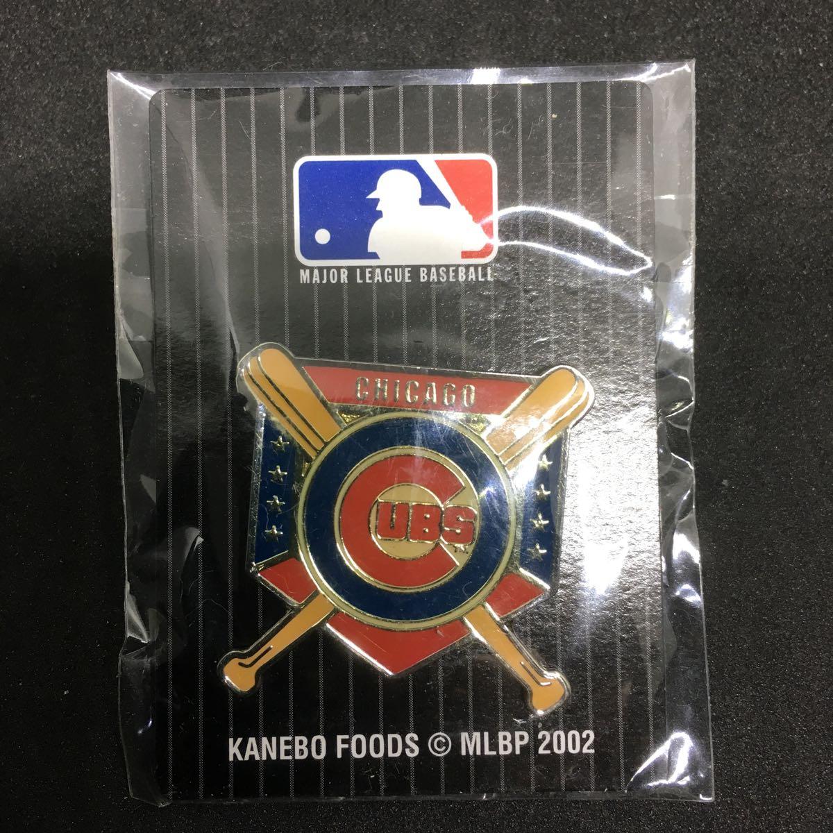 MLB 2002 メジャーリーグ ベースボール シカゴ カブス ロゴ ピンバッチ 未開封_画像1