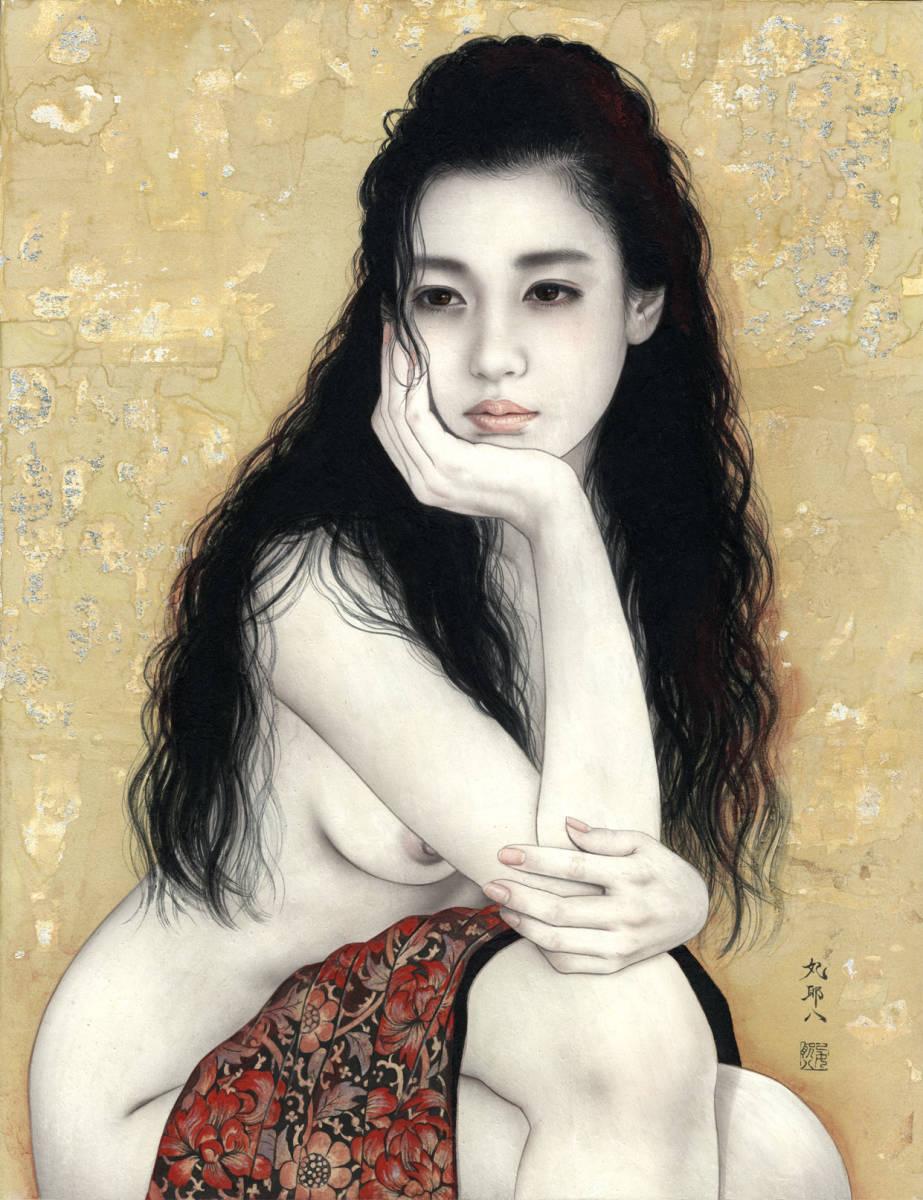 妃 耶八 ●日本画「頬杖(ほおづえ)」