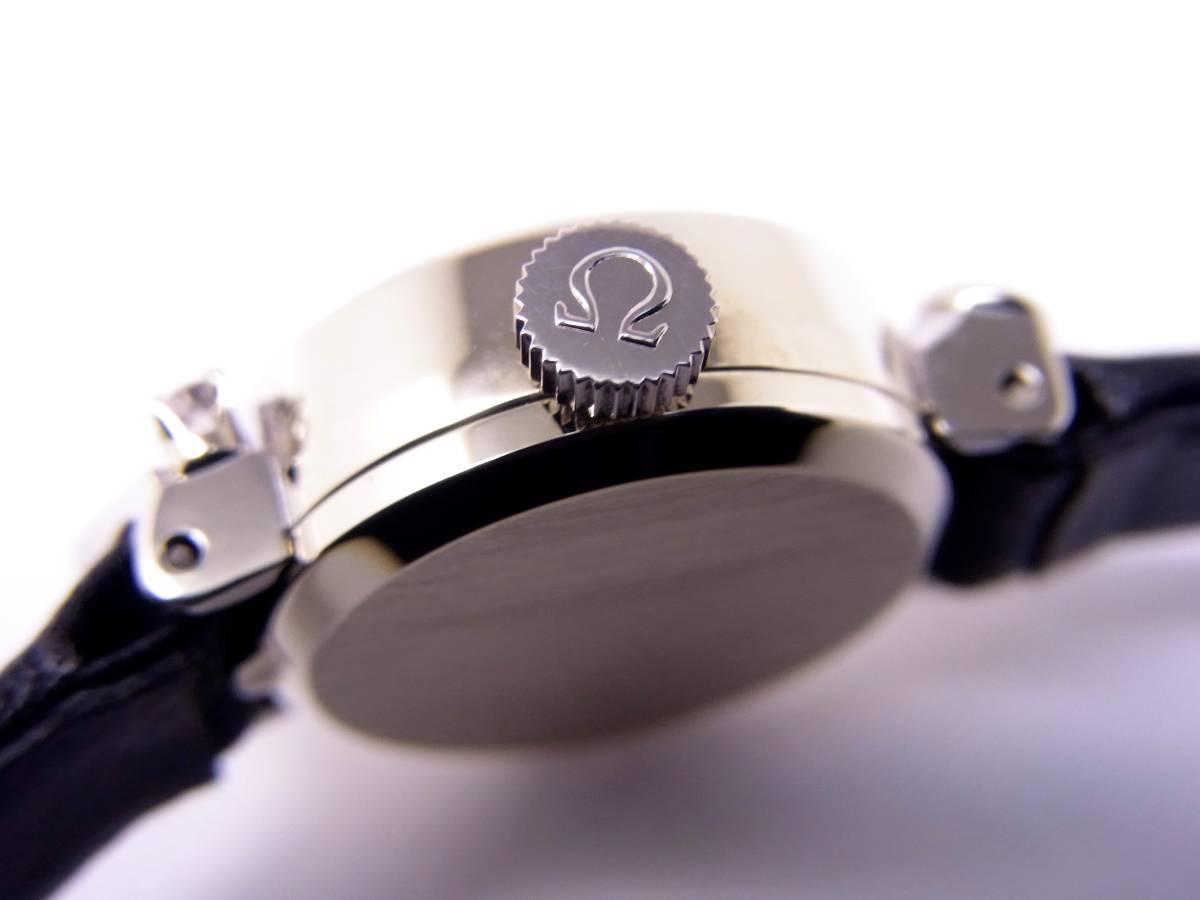 可愛い!!オメガ14KWG 2Pダイヤモンド デビル レディース 手巻き時計 美品!!_画像4