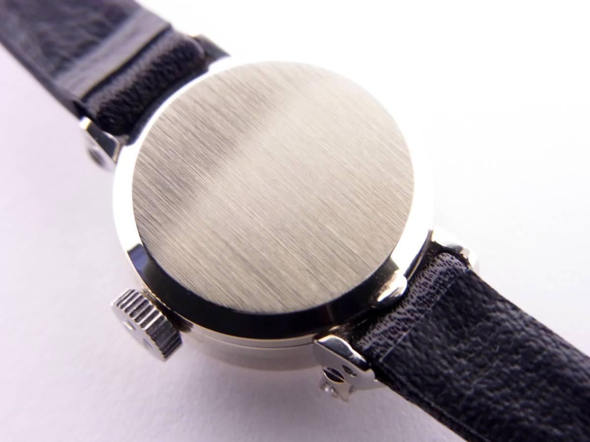 可愛い!!オメガ14KWG 2Pダイヤモンド デビル レディース 手巻き時計 美品!!_画像5