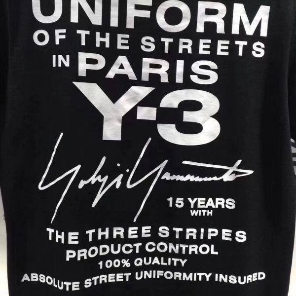 2018最新Paris Y-3Tシャツ男女兼用Mサイズブラック新品_画像8