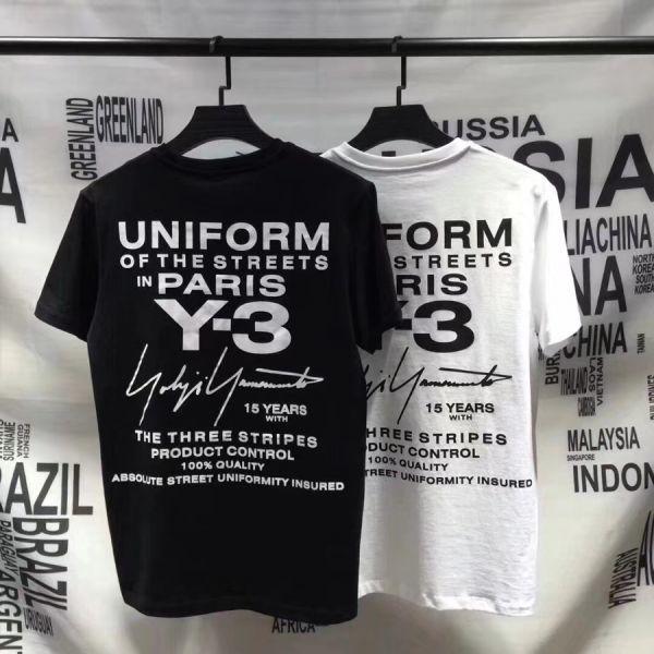 2018最新Paris Y-3Tシャツ男女兼用Mサイズブラック新品