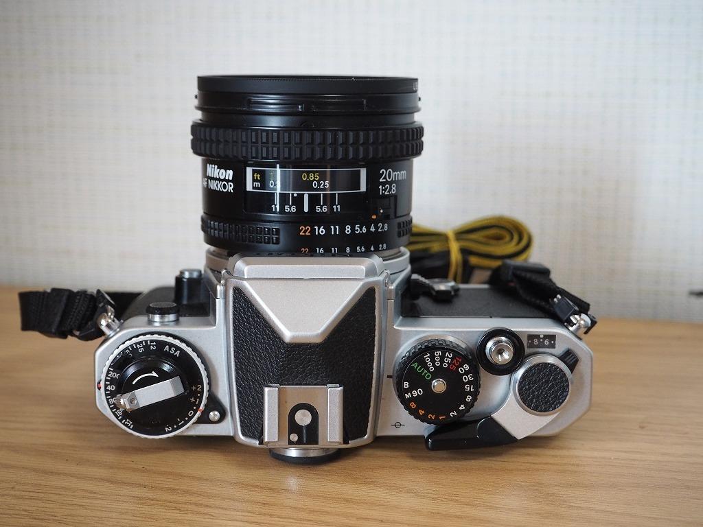【レンズ・カバー付き!!】Nikon ニコン FE AF NIKKOR 20mm 1:2.8_画像3