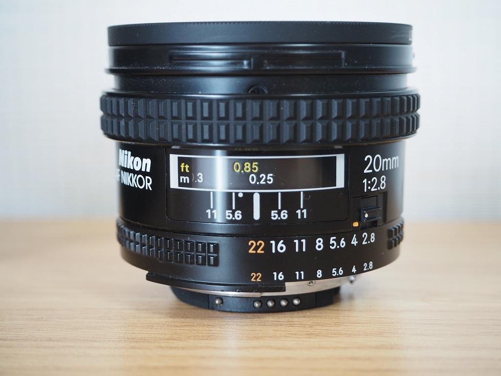 【レンズ・カバー付き!!】Nikon ニコン FE AF NIKKOR 20mm 1:2.8_画像10