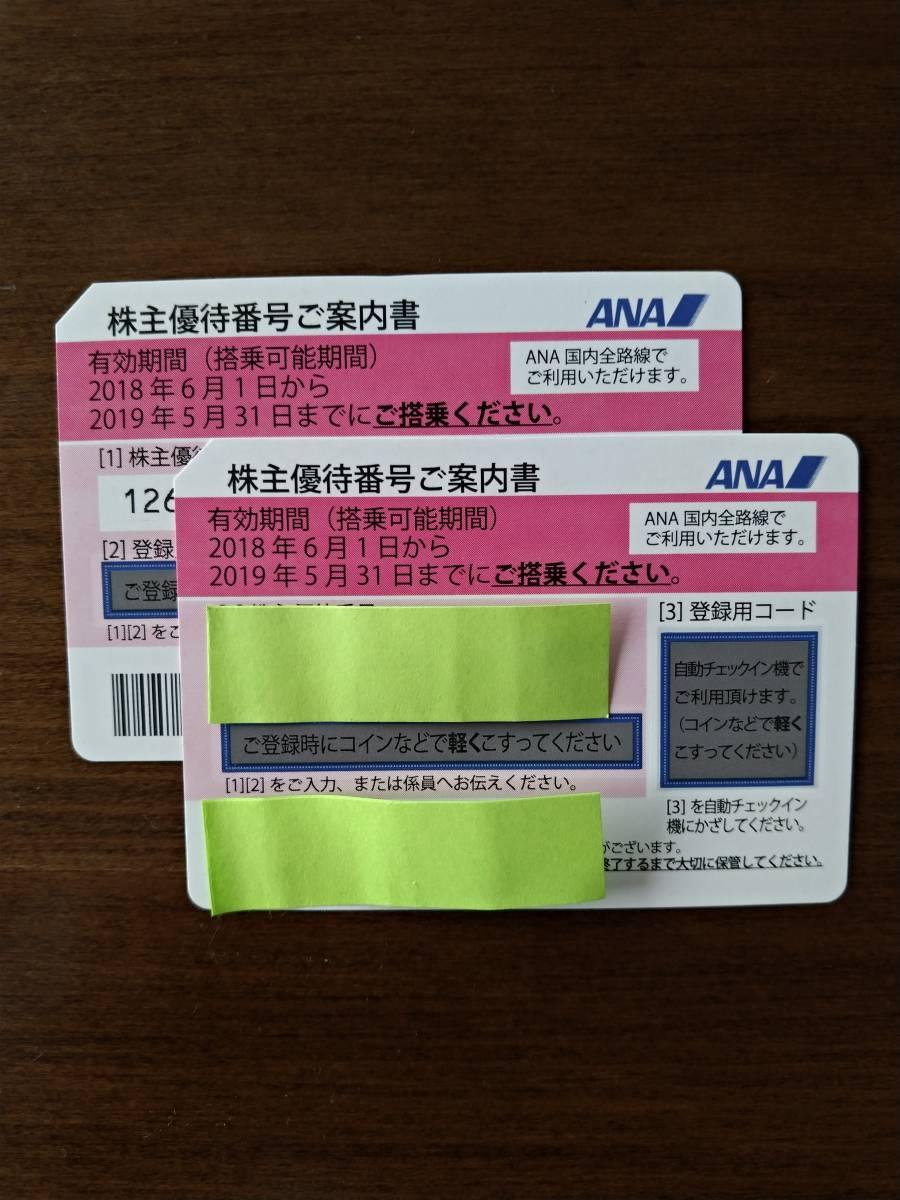 送料無料 ANA株主優待券2枚組