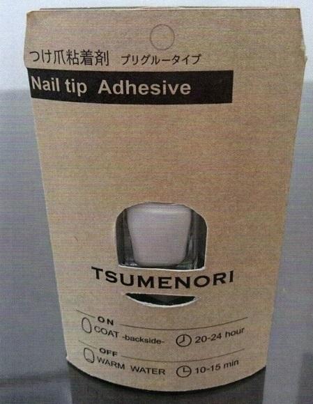 """[M&M]プリグルータイプ!!つけ爪用粘着剤 """"TSUMENORI""""です。ワンタッチタイプの接着剤で,お湯で簡単に剥がせます。新品未使用品です。_画像3"""