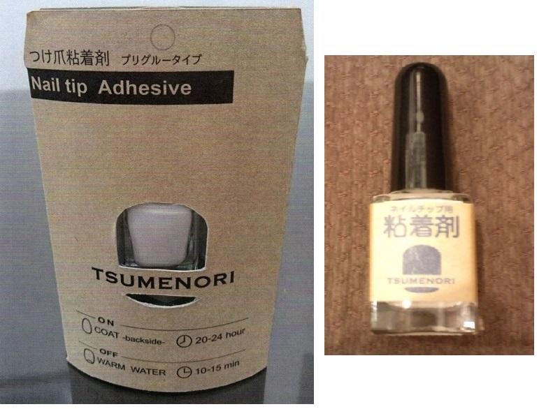 """[M&M]プリグルータイプ!!つけ爪用粘着剤 """"TSUMENORI""""です。ワンタッチタイプの接着剤で,お湯で簡単に剥がせます。新品未使用品です。_画像4"""