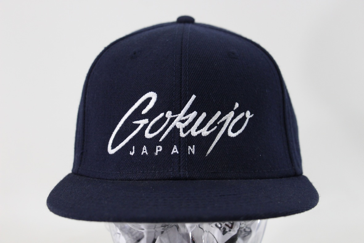 GOKUJO JAPAN snap back free navy navy blue otto hat embroidery Logo finest  quality extremely George b644509a93e