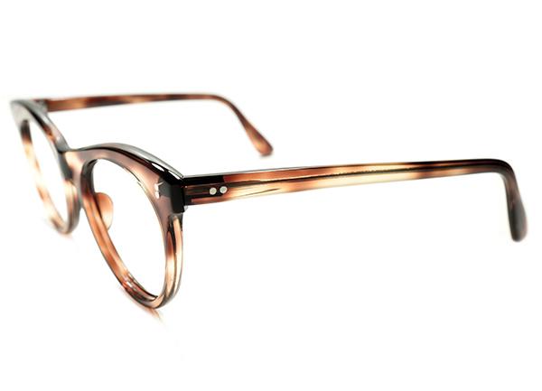 機能本位超GOODシルエット&グッドサイズ 1950sフランス製2DOT鼈甲ウェリントンPANTOパント実寸46/20眼鏡A5019 ビンテージサングラスメガネ_画像3