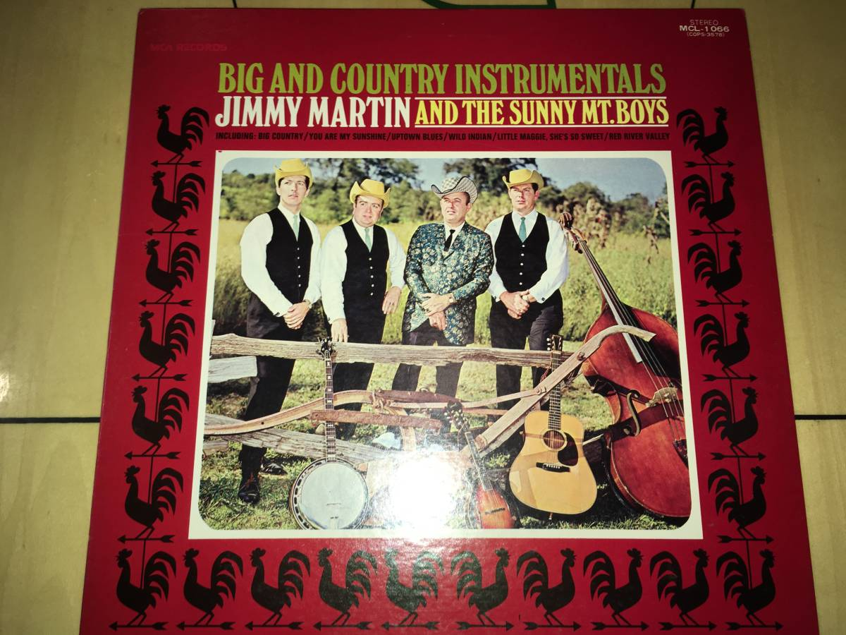 LPレコード●ジミーマーティンJimmy Martin And The Sunny Mt. Boys / Big And Country Instrumentals_画像1