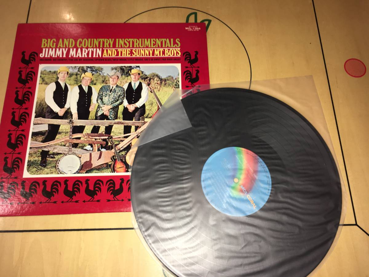 LPレコード●ジミーマーティンJimmy Martin And The Sunny Mt. Boys / Big And Country Instrumentals_画像3