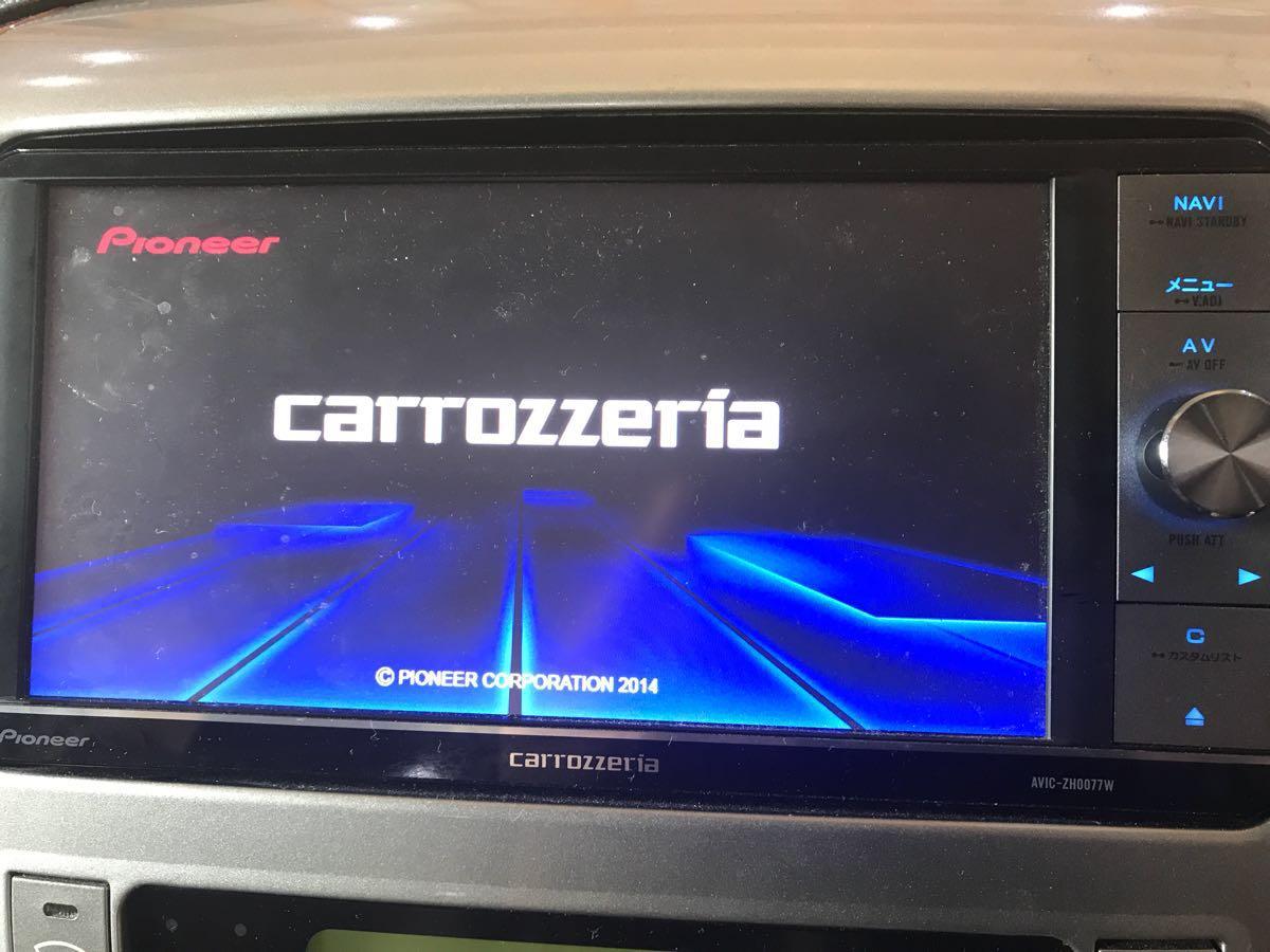 カロッツェリア carrozzeria サイバーナビ HDD AVIC-ZH0077W フルセグ 2014年地図データ バックカメラキット ステアングハーネス_画像3