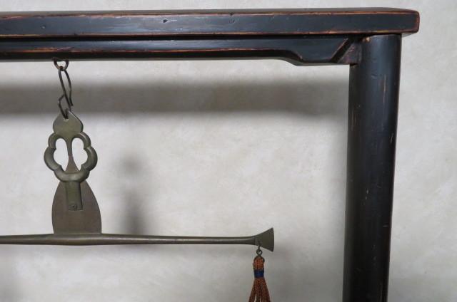 ☆ 古民具☆江戸期 両替商 天秤台はかり 銅製まゆ型分銅15個 木製分銅10個 ☆_画像3