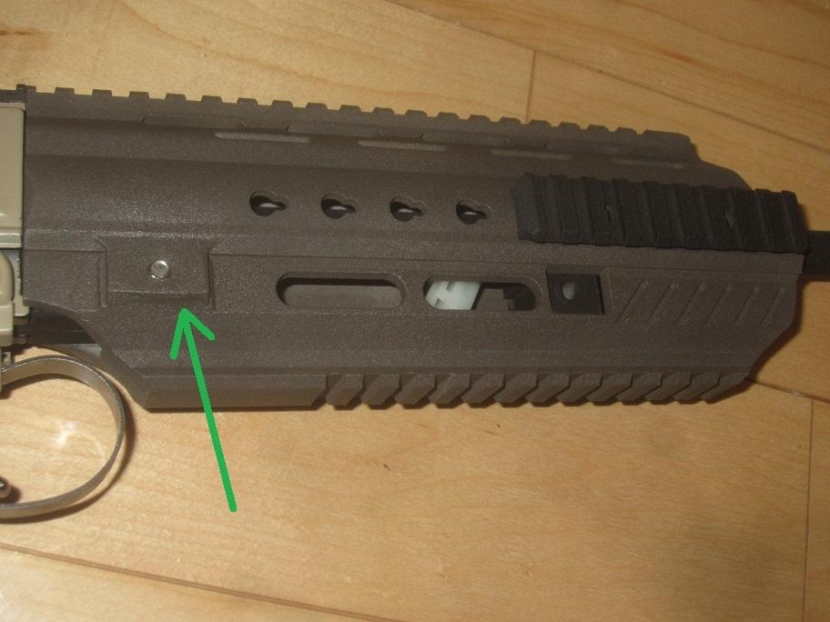 L85A3(SA80A3)自作ハンドガードキット組込 G&G 訳アリ 1円スタート L85A1 L85A2 M4 416 _画像9
