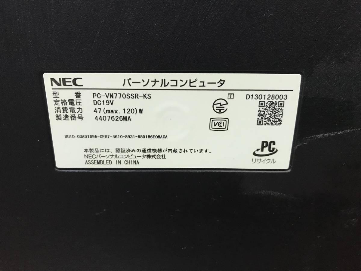 NEC VALUESTAR N VN770/SSR-KS PC-VN770SSR-KS 一体型パソコン i7-4700MQ 8GB 1.5TB Win8.1 液晶割れ ジャンク品 _画像5