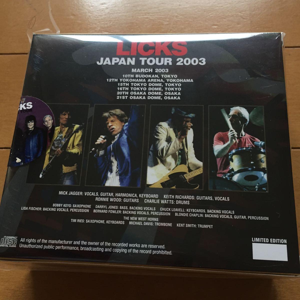 Rolling Stones Licks Japan Tour 2003 未開封ボックス 再入荷版_画像2
