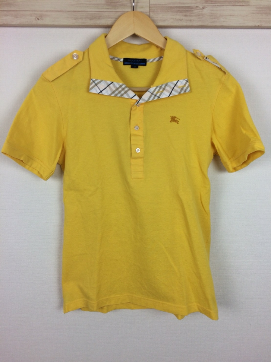 Beautiful Goods Burberry Blue Label Polo Shirt With Short Sleeves