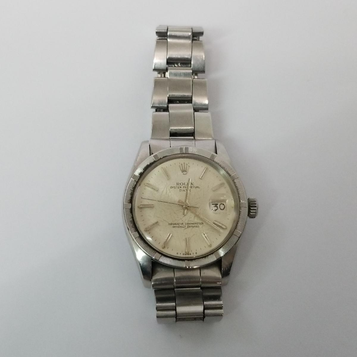 本物 ROLEX ロレックス オイスターパーペチュアル デイト メンズ オートマ 腕時計 1501 ROLEX Oyster Perpetual Date 稼動品