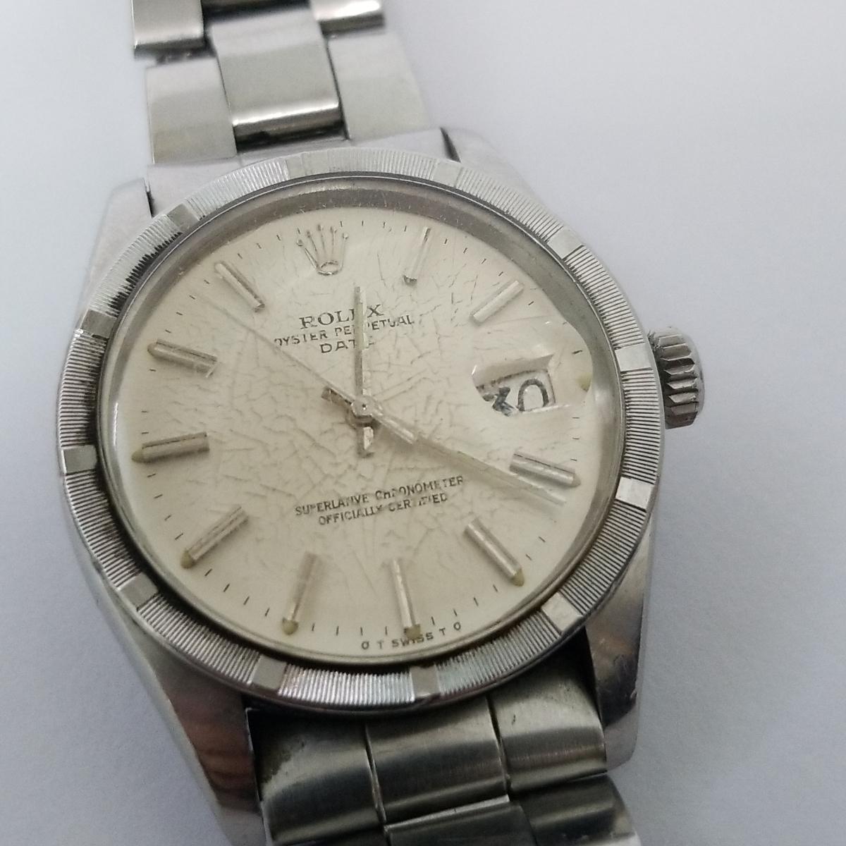 本物 ROLEX ロレックス オイスターパーペチュアル デイト メンズ オートマ 腕時計 1501 ROLEX Oyster Perpetual Date 稼動品_画像2