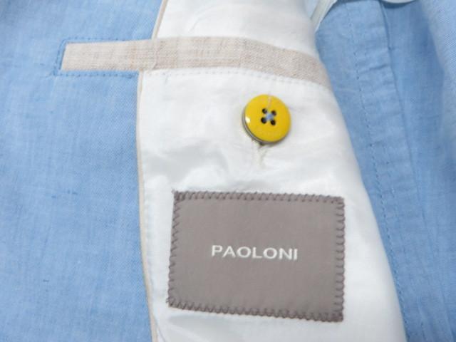 新品★送料無料!PAOLONI パオローニ メンズ リネン コットン サマージャケット / 2011G517L161144-81 ライトブルー.50_画像6