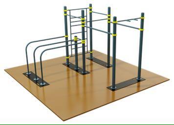 【工事不要】移動式鉄棒セット☆☆公園遊具!ストリートワークアウト&体操&懸垂マシン D-6_画像1