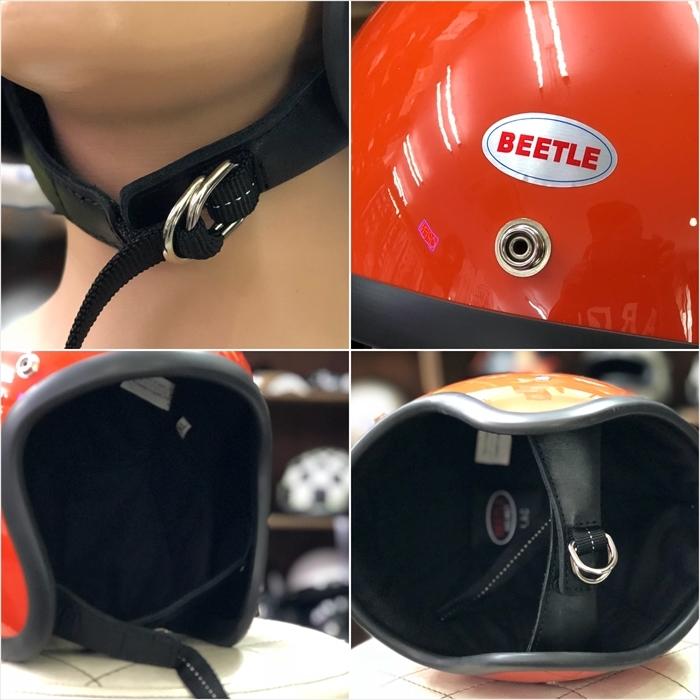 OCEAN BEETLE オレンジ 500TX LAC L.A.C ジェット ビンテージヘルメット BELL BUCO チョッパー オーシャンビートル_画像3