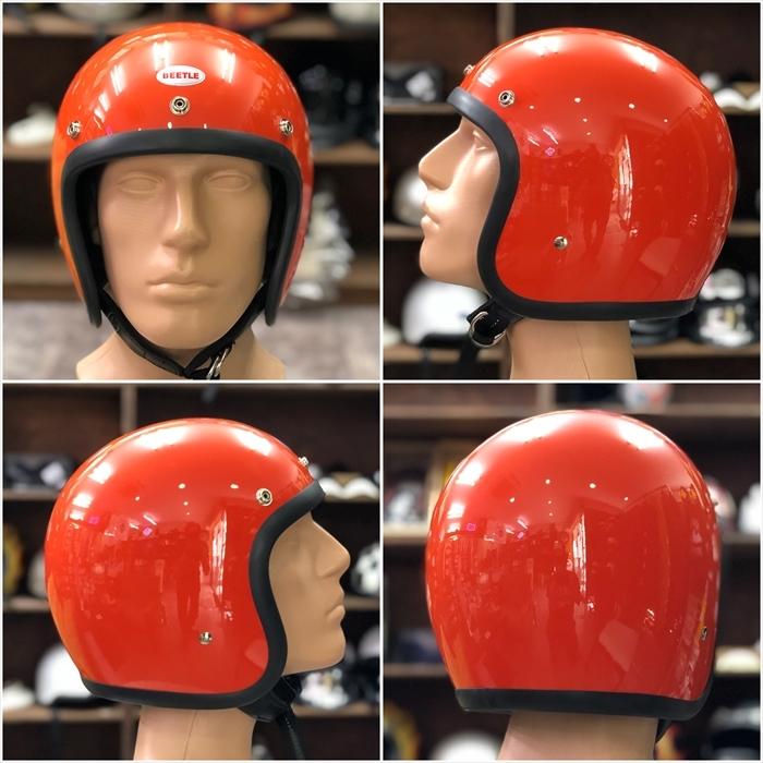 OCEAN BEETLE オレンジ 500TX LAC L.A.C ジェット ビンテージヘルメット BELL BUCO チョッパー オーシャンビートル_画像2