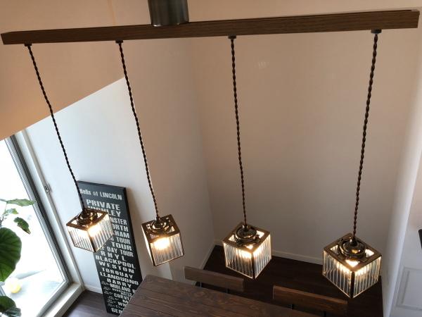 4灯 ペンダントライト 照明 カフェ モールガラス レトロ 天井照明 ダングル 男前インテリア ダイニング リビング_画像5