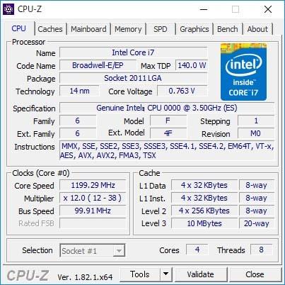★☆動作確認済 intel Xeon E5-1620 V4 ES QK3L 4コア8スレッド LGA2011-3 X99等 Broadwell-E☆★_画像3