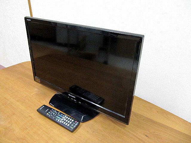 中古品/美品 2014年製 SHARP/シャープ AQUOS/アクオス 24V型液晶テレビ LC-24K9