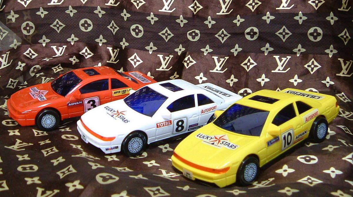 ◆ S13 シルビア タイプ プラカー 模型 ミニカー 3色 セット カスタムベースに 旧車 おもちゃ TOY JUNK _画像1