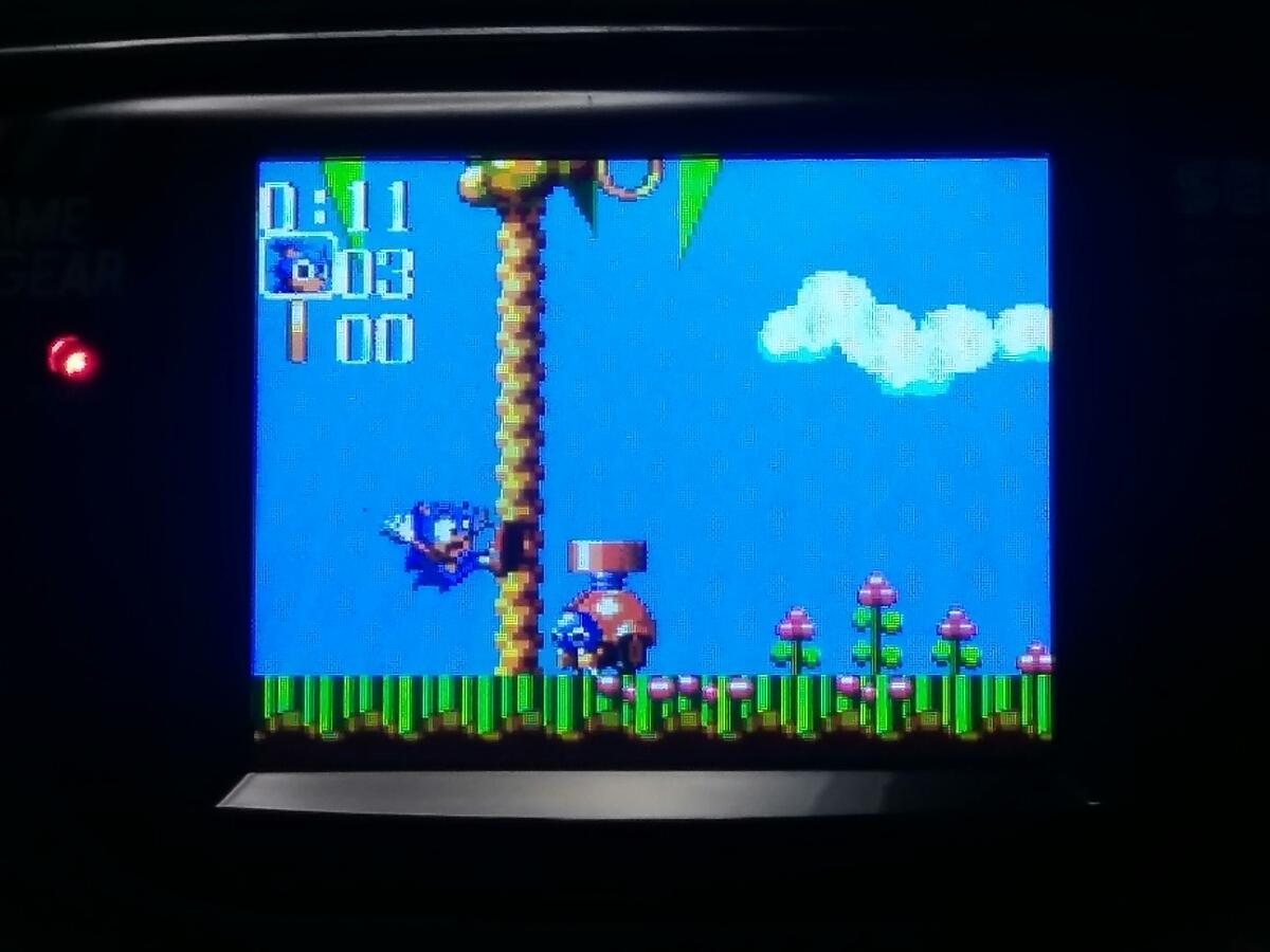 動作保証【LCD MOD(McWill)取付 外部出力改造】コンデンサ交換フルメンテ済 SEGAゲームギア なぞぷよアルルのルーとSONIC&TAILS付_画像7