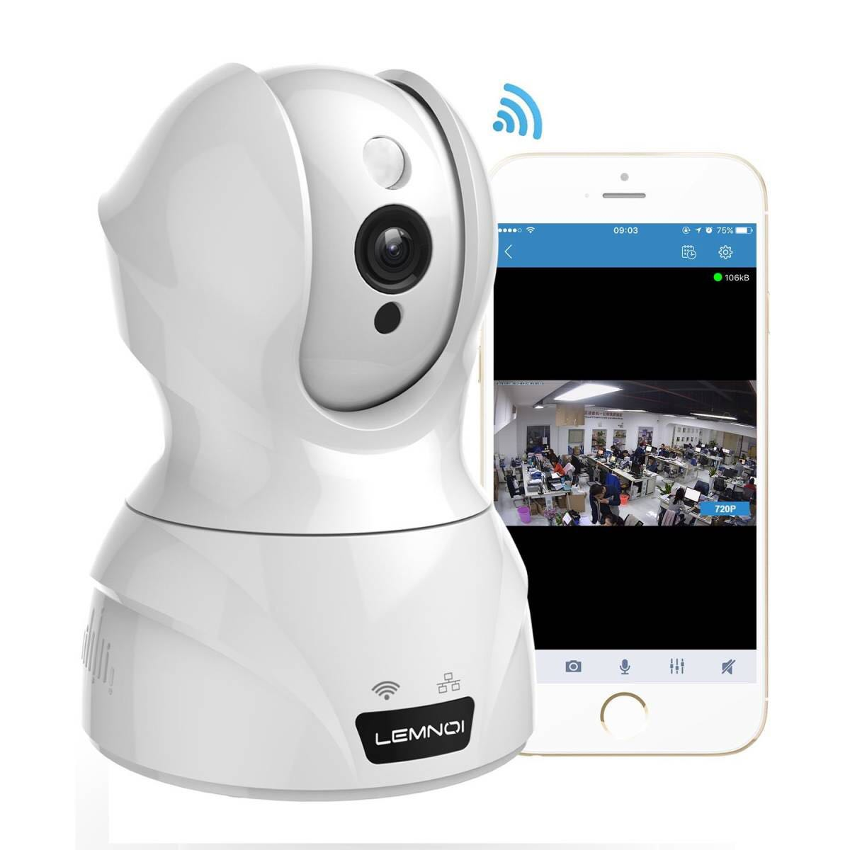 720P ネットワークカメラ スマホ対応 WIFI 防犯 監視 介護 ペット留守番 暗視撮影 動体検知 日本語アプリ