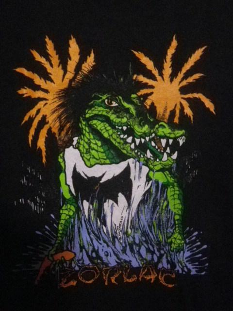 90s ZORLAC pushead ゾーラック パスヘッド画 クロコダイル Tシャツ XLサイズ