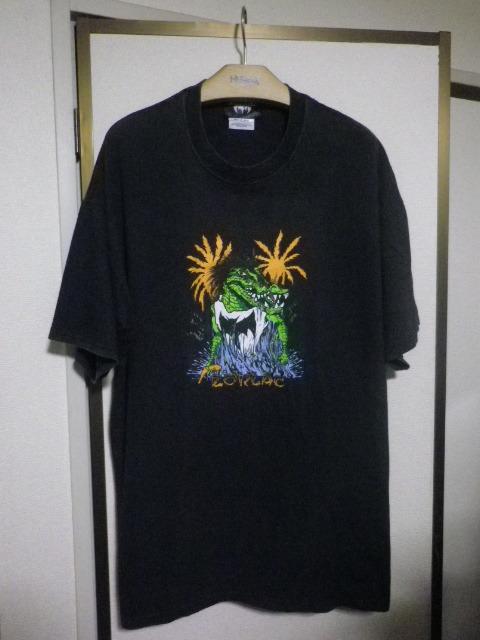 90s ZORLAC pushead ゾーラック パスヘッド画 クロコダイル Tシャツ XLサイズ_画像2