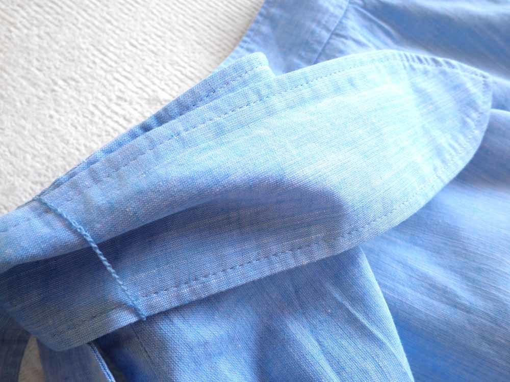 aquagirl アクアガール*昨季 コットンリネン 上質シャンブレーロングスカート 34  5号 麻_画像7