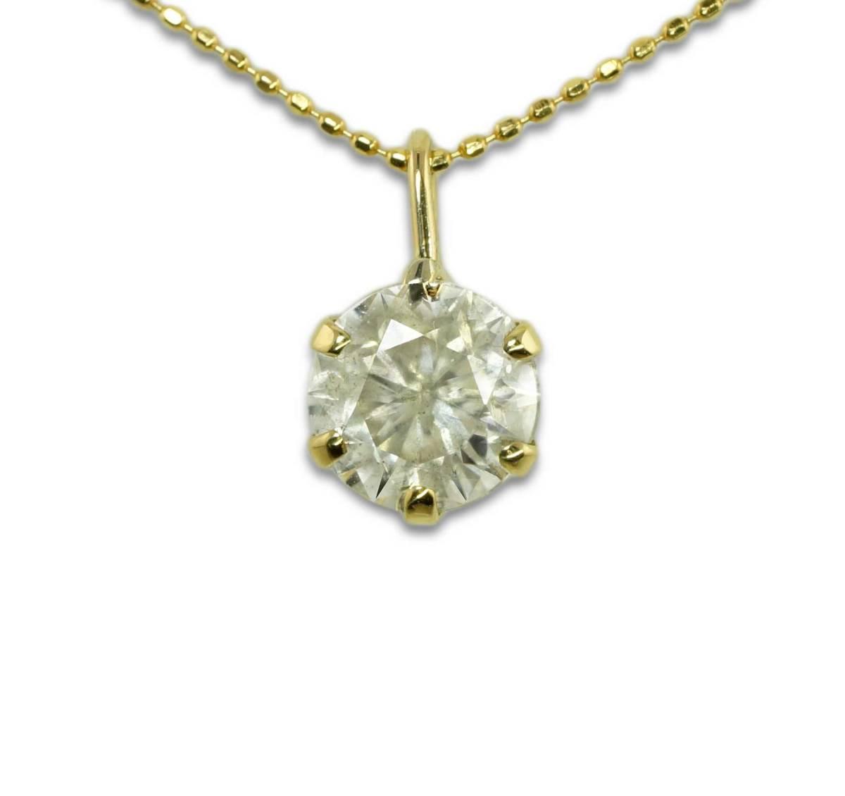●天然特大ダイヤモンド 1.99ct 2.32g K18YG ネックレス jewelry