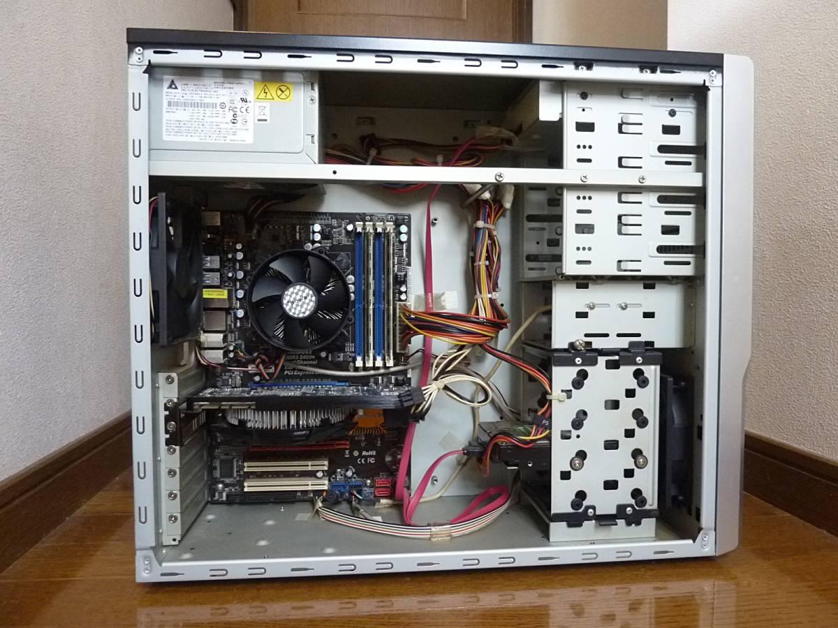 自作 i7-860 (2.80~ 最大3.46GHz) P55DE3 1TB 4GB GeForce GTS250 win10 win7 訳あり 動作確認済み_画像2